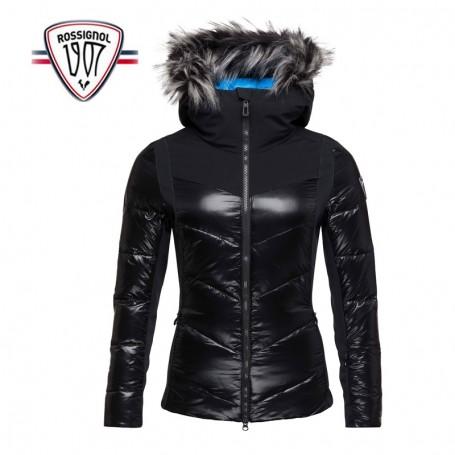 veste de ski femme 20000g m capuche fourrure