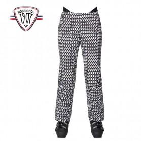 Pantalon de ski ROSSIGNOL Médaille Print Pant Blanc Femme