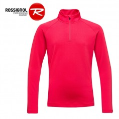 Maillot ROSSIGNOL Girl 1/2 zip Warm Stretch Framboise Fille