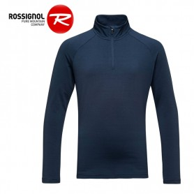 Maillot ROSSIGNOL Girl 1/2 zip Warm Stretch Bleu marine Fille