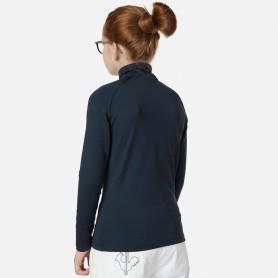 Maillot ROSSIGNOL Girl 1/2 zip Warm Stretch Bleu marine Fille