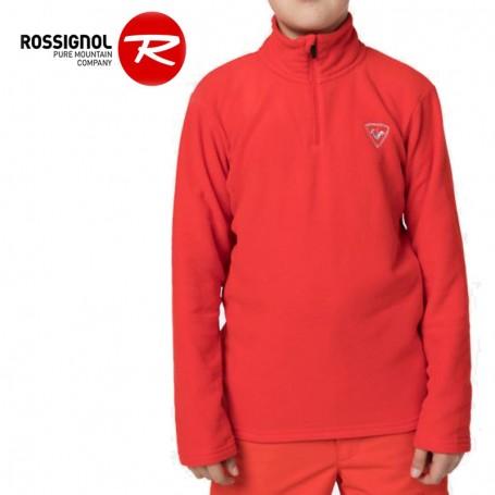 Polaire ROSSIGNOL Boy 1/2 zip Rouge orangé Garçon