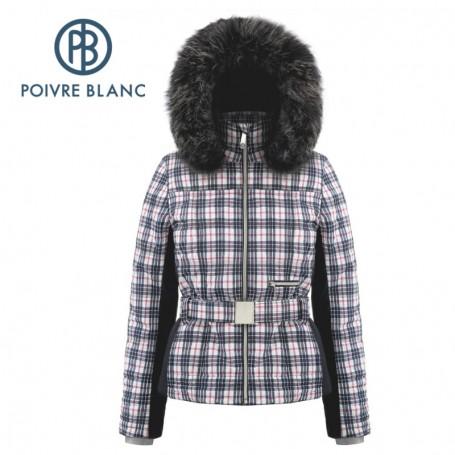 Veste de ski POIVRE BLANC W18-1003 WO/A Bleu Tartan Femme