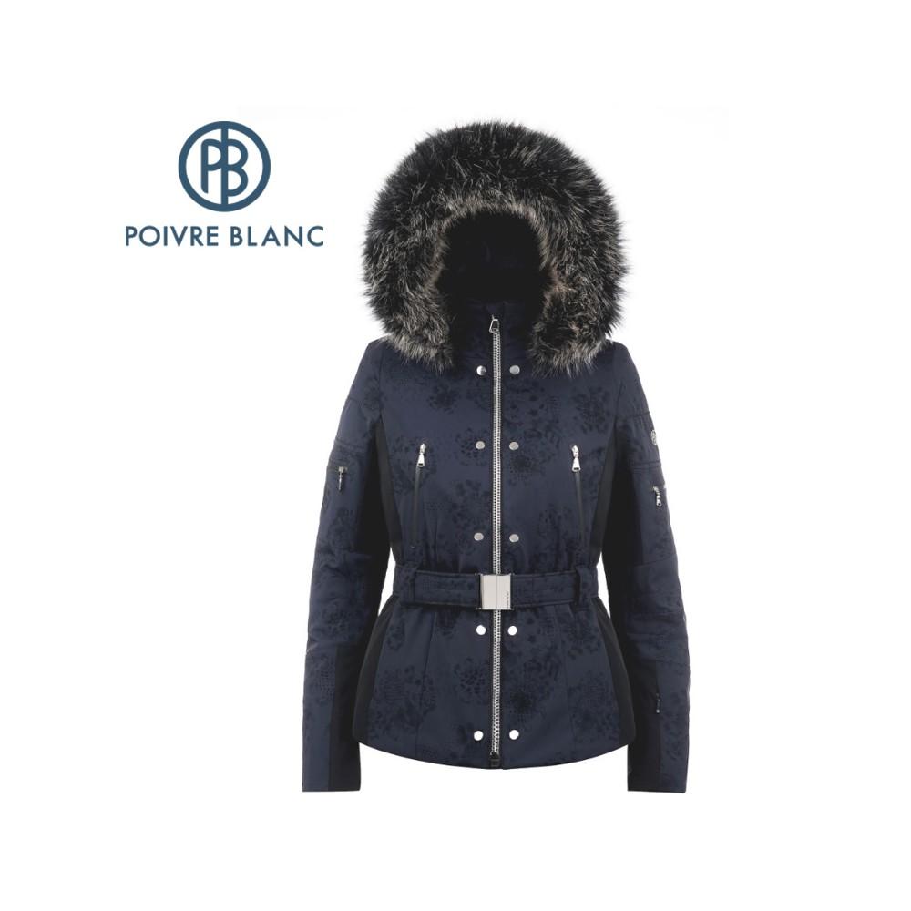 Veste de ski POIVRE BLANC W18-0804 WO/A Bleu marine Femme