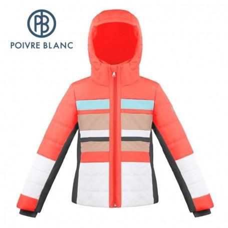 Blouson de ski POIVRE BLANC W18-1004 JRGL Orange Fille