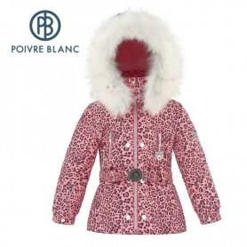 Veste de ski POIVRE BLANC W18-1008 BBGL/A Rose Leopard BB Fille