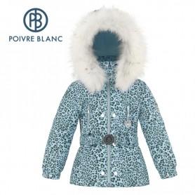 Veste de ski POIVRE BLANC W18-1008 BBGL/A Bleu Leopard BB Fille