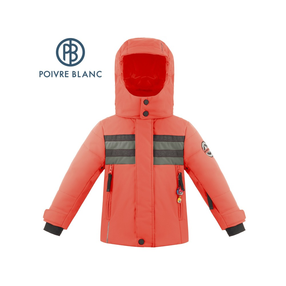 Veste de ski POIVRE BLANC W18-900 BBBY Orange Garçon