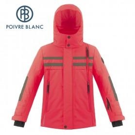 Veste de ski POIVRE BLANC W18-900 JRBY Rouge Garçon