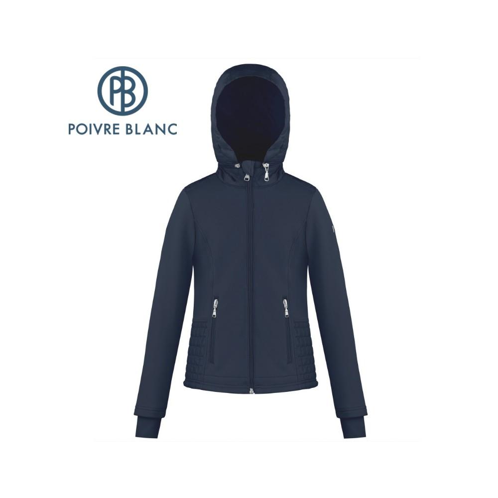 Veste stretch POIVRE BLANC W18-1601 JRGL Blue marine Femme