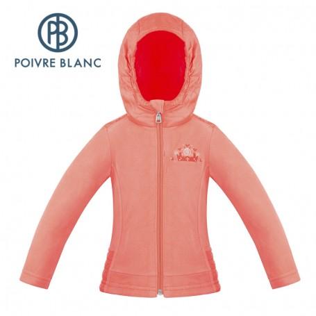 Veste POIVRE BLANC W18-1502 BBGL Orange Fille