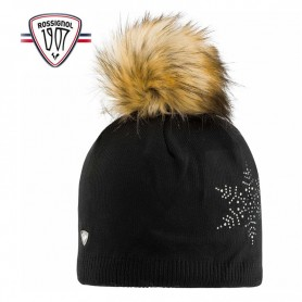 Bonnet de ski ROSSIGNOL Fily Fur Noir Femme