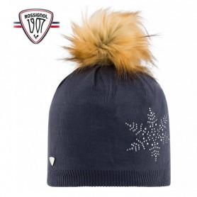 Bonnet de ski ROSSIGNOL Fily Fur Bleu marine Femme