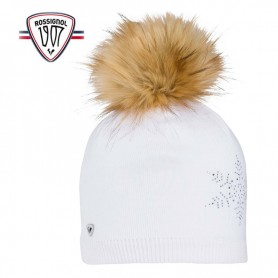 Bonnet de ski ROSSIGNOL Fily Fur Blanc Femme