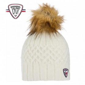 Bonnet de ski ROSSIGNOL Poly Crème Femme