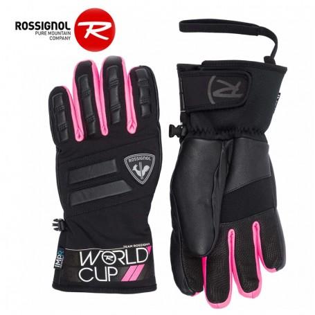Gants de ski ROSSIGNOL WC Master Noir/Rose Unisexe