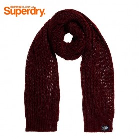 Echarpe SUPERDRY Aries Sparkle Bordeaux Femme