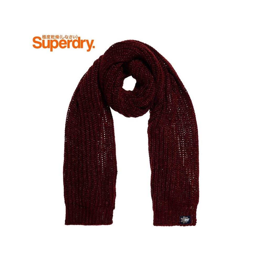 Echarpe SUPERDRY Aries Sparkle Bordeaux Femme