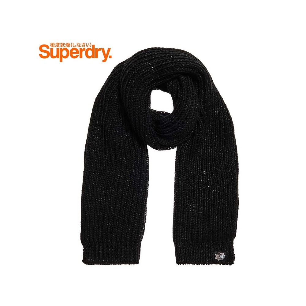 Echarpe SUPERDRY Aries Sparkle Noir Femme