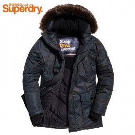 Parka SUPERDRY Trimmed Everest Camouflage Homme