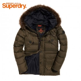 Parka SUPERDRY Longline Down Chinook Kaki Homme