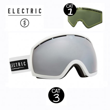 Masque de ski ELECTRIC EG2 Blanc Unisexe Cat.1/3
