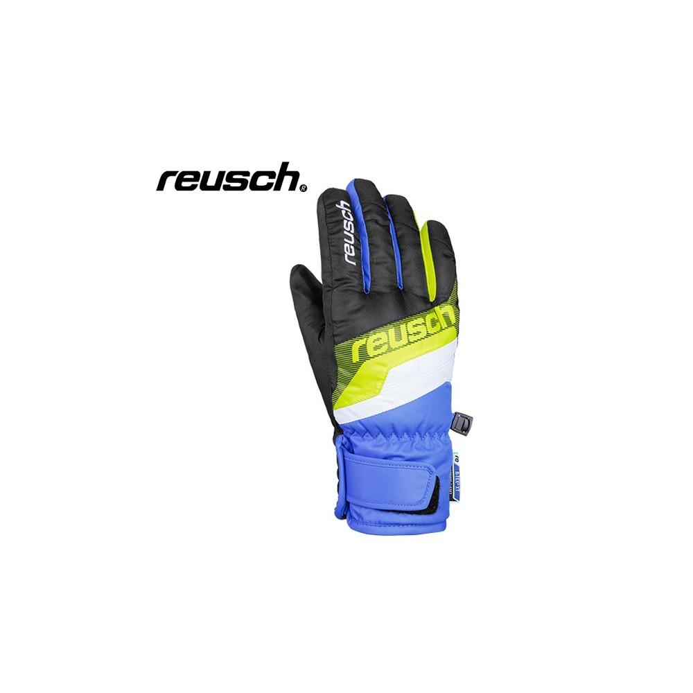 Gants de ski REUSCH Dario Noir / Bleu Junior