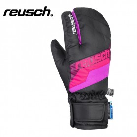 Moufles 3 doigts de ski REUSCH Dario R-tex Noir / Rose Junior