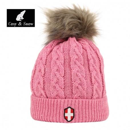 Bonnet de ski COSY & SNOW Steph Vieux Rose Unisexe
