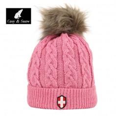 Bonnet de ski COSY & SNOW Steph Vieux Rose Femme