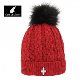 Bonnet de ski COSY & SNOW Steph Rouge Chiné Unisexe
