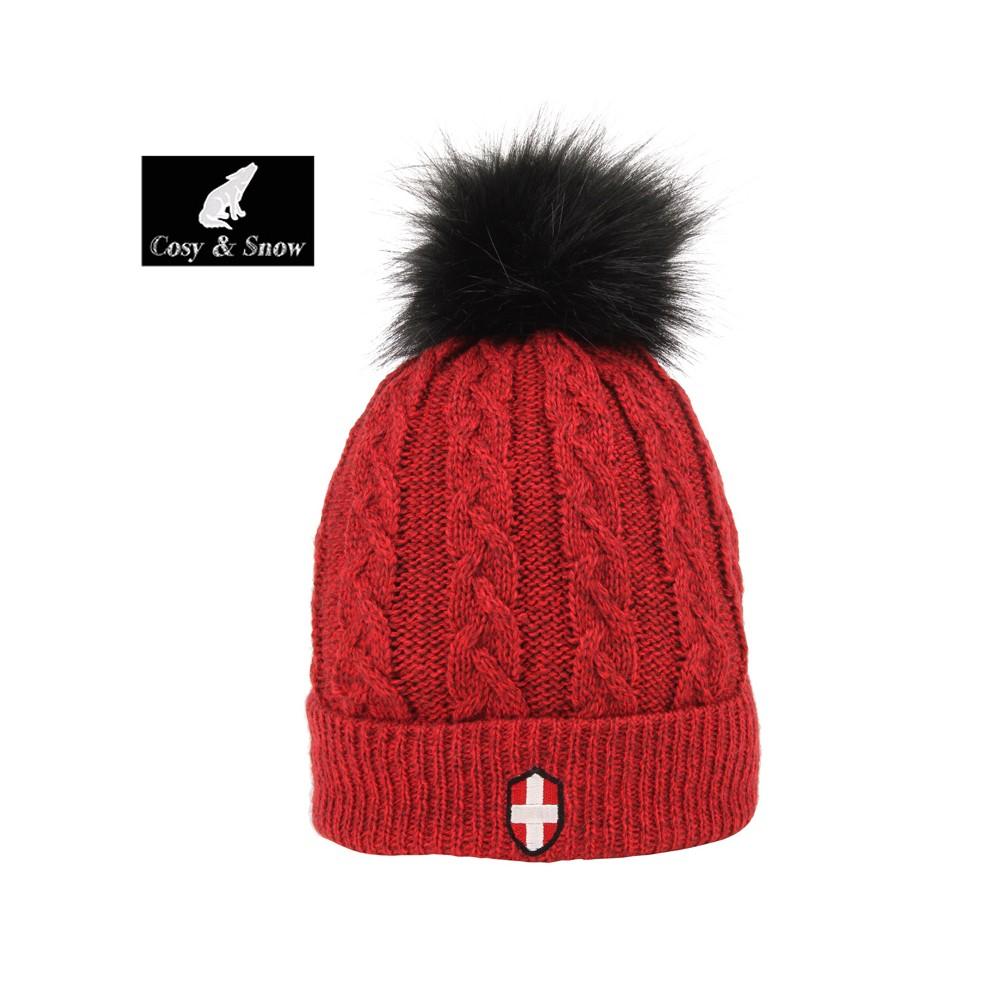 Bonnet de ski COSY & SNOW Steph Rouge Chiné Unisexe