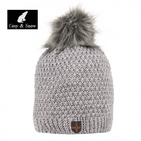 Bonnet de ski COSY & SNOW Nina Gris Chiné Femme