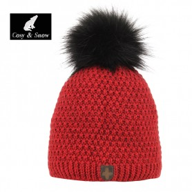 Bonnet de ski COSY & SNOW Nina Rouge Chiné Femme