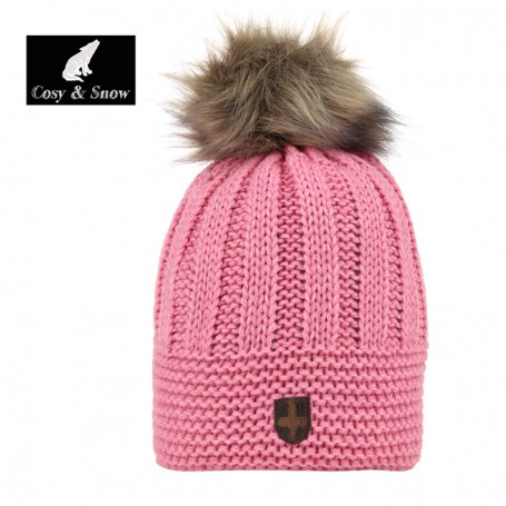 Bonnet de ski COSY & SNOW Brita Vieux Rose Unisexe