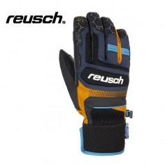 Gants de ski REUSCH Stuart R-Tex Bleu / Orange Homme