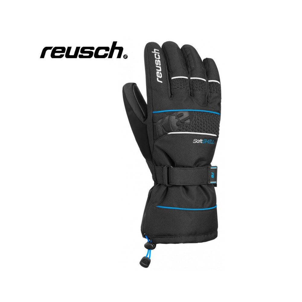 Gants de ski REUSCH Connor R-Tex  Noir/ Bleu Homme