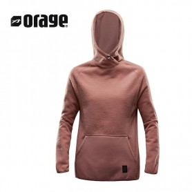 Sweat polaire ORAGE Rose Saumon Femme