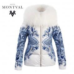 Doudoune MONTVAL Megève Blanc / Bleu Femme