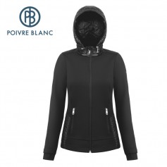 Veste stretch POIVRE BLANC W18-1601 WO Noir Femme