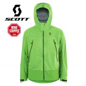 Veste Windstopper SCOTT Explorair Softshell Verte Hommes
