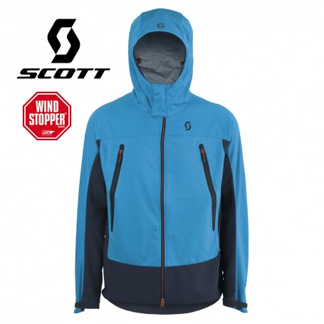 Veste Windstopper SCOTT Explorair Softshell Bleu Hommes