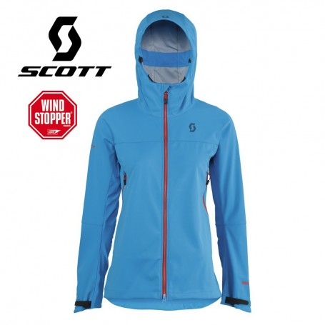 Veste Windstopper SCOTT Explorair Softshell Bleue Femmes