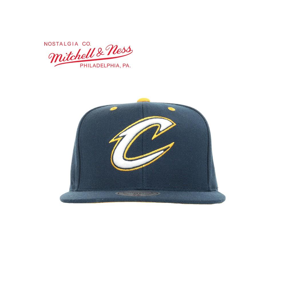 Casquette MITCHELL & NESS Cleveland Cavaliers Bleu Unisexe