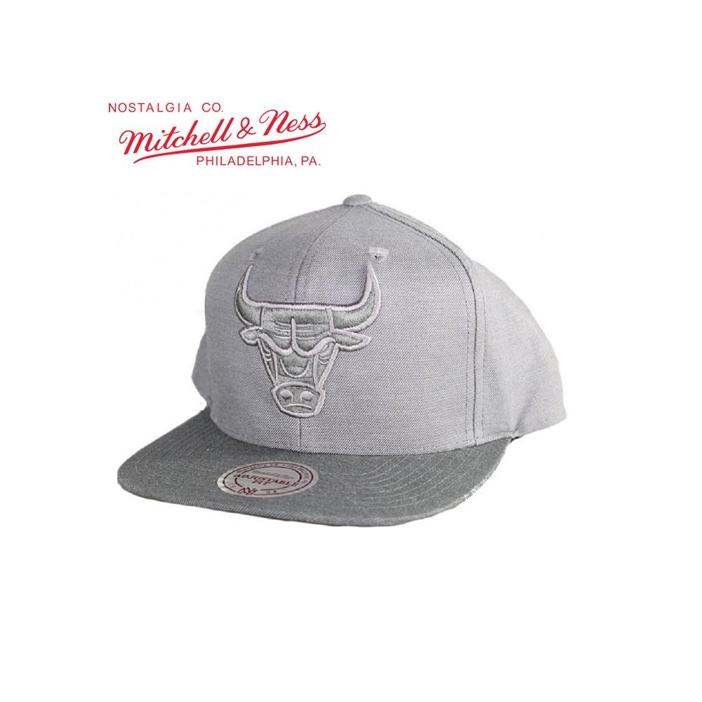 Casquette MITCHELL & NESS Chicago Bulls Gris Unisexe
