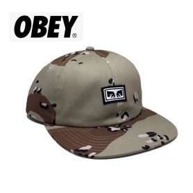 Casquette OBEY Resist 6 panel Choco Unisexe
