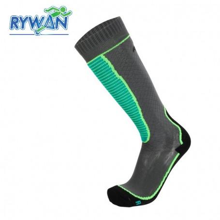 Chaussettes de ski RYWAN Protect  Gris / Vert Unisexe