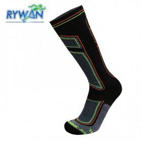 Chaussettes de ski RYWAN Bio-ceramic Noir / Gris Unisexe