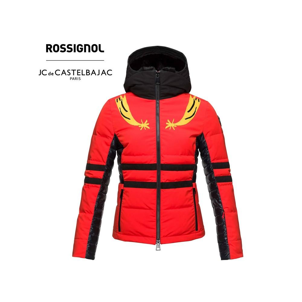 Doudoune de ski ROSSIGNOL JCC Yurock Rouge orangé Femme