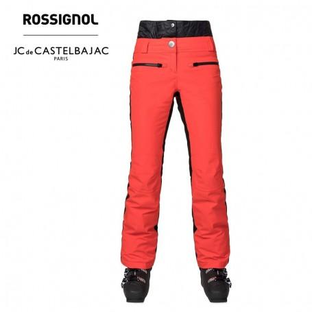 Pantalon de ski ROSSIGNOL JCC Yurock Rouge Orangé Femme